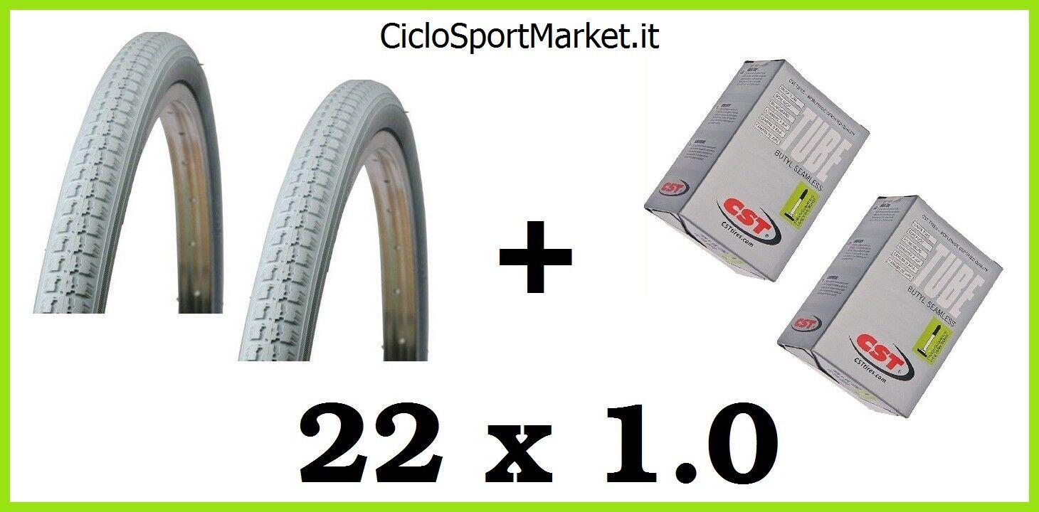 2 Neumáticos + 2 Cámaras de aire tamaño 22 x 1 ideal para SILLA DE RUEDAS