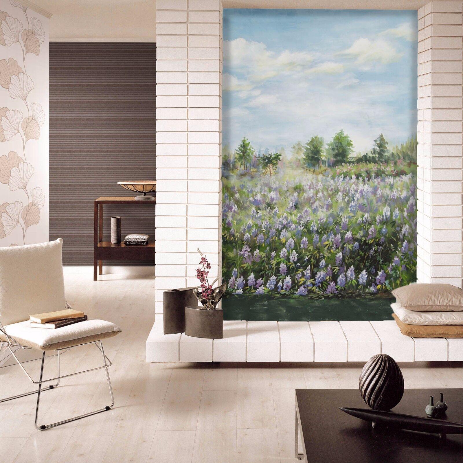 3D Lavendel Ölgemälde 7 Tapete Wandgemälde Tapete Tapeten Bild Familie DE Summer