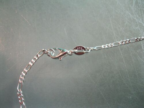 """2MM plata esterlina 925 Collar de Cadena Fígaro 16/"""" Pulgadas de moda para hombres y mujeres"""