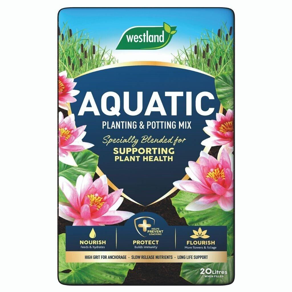 Westland aquatic compost 20L. Pond Aquatic Compost Lily buy 2 get free gloves