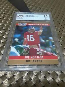 JOE-MONTANA-1990-PRO-SET-FOOTBALL-ERROR-CARD-2-BECKETT-Mint-player-of-the-year