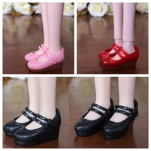 3pairs Fashion Shoes For Blythe Dolls 1//6 Wedge Heel Shoes For Licca Mini Shoes