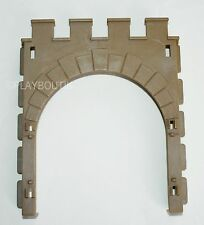 PLAYMOBIL CHATEAU FORT - entree du château 3446 - façade - mur
