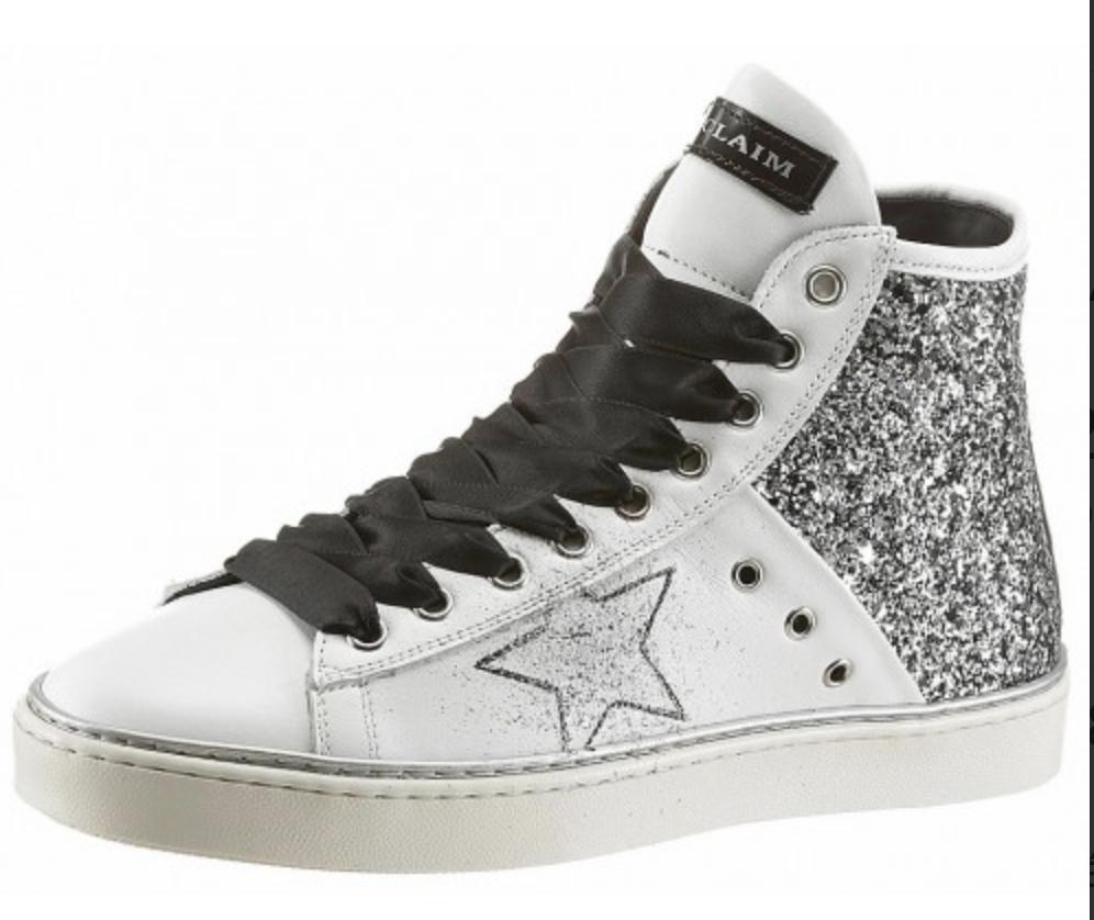 on sale e8023 d06c0 Noclaim-scarpe Noclaim-scarpe Noclaim-scarpe da ginnastica Glitter  schnürrstivali Glitter Bianco Nuovo Taglia 36 s190j 7e2b4a