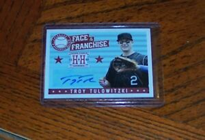 TROY TULOWITZKI 2013 HOMETOWN HEROES FACE OF THE FRANCHISE AUTO AUTOGRAPH SP
