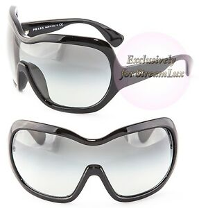 a7c38b638c Image is loading PRADA-ILLUSION-Sunglasses-PR-05OS-1AB-3M1Unisex-Oversized-
