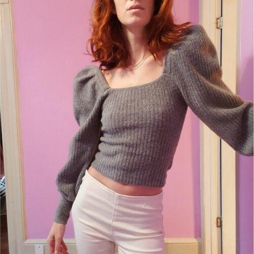 Zara Puff Sleeve Cropped Sweater - S