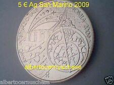 5 euro Ag San Marino 2009 Saint Marin ASTRONOMIA astronomie Сан Марино サン・マリノ