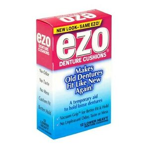 how to use ezo denture cushions