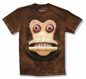 429f2ade Details about Mountain Monkey Eyes Youth Kids Brown Tie Dye T Shirt New  Official Ape