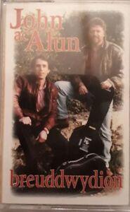 John-Ac-Alun-Breuddwydion-Cassette-1993-Sain-C2060N-Nos-Sadwrn-O-Gymru-Fwyn
