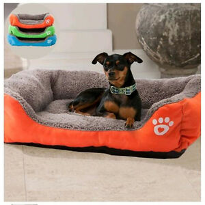 Pet Bed Cushion Mat Pad Dog Cat Cage Kennel Crate Warm Cozy Soft House