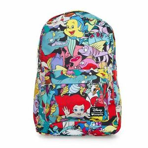 Image is loading Disney-Ariel-Backpack-Little-Mermaid-All-Over-Print-