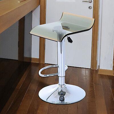 HOMCOM Bar Stool Chair Acrylic Seat Adjustable Height Metal Base Gas Lift NEW