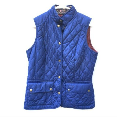 Barbour quilted Vest cobalt blue size 8 puffer