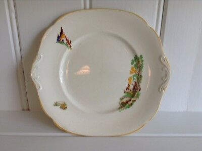 Art Deco Periods & Styles Art Deco Porcelain Plate With Farm/pastoral Decal 1930s Original Good Condition High Quality And Low Overhead