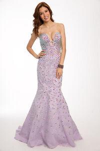 441804e29dc8 Image is loading Sexy-New-Jovani-Blush-Strapless-Embellished-Mermaid-Prom-