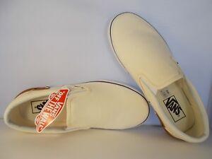VANS-Classic-Slip-On-Gum-Block-Classic-White-Skateboarding-Shoes-Men-039-s-Sz-10-NIB