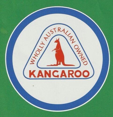 """/""""KANGAROO AUSTRALIAN /"""" PETROL OIL LOGO GARAGE GAS STATION PROMO STICKER DECAL"""