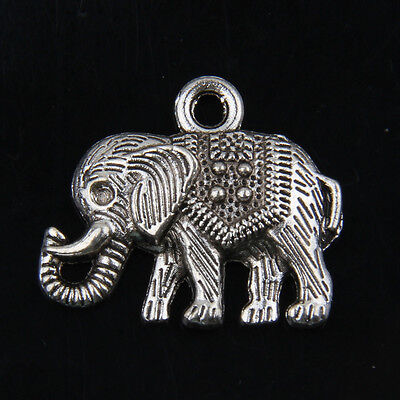 20pcs Tibetan Silver Elephant Charms Pendants for Jewelry Making 22x20mm
