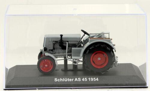 Schlüter AS 45 grau 1954 Traktor 1:43 Hachette//UH Modellauto