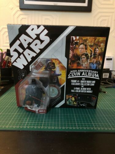 Star Wars 30th Anniversary Coin Album /& Darth Vader Action Figure