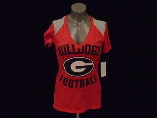 Nike Women's Fashion New Georgia V Deep Bulldogs neck Shirt Ncaa qRPSZ