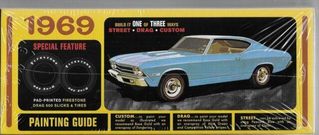 AMT 1138  1969 Chevrolet Chevelle SS 396  plastic model kit 1//25