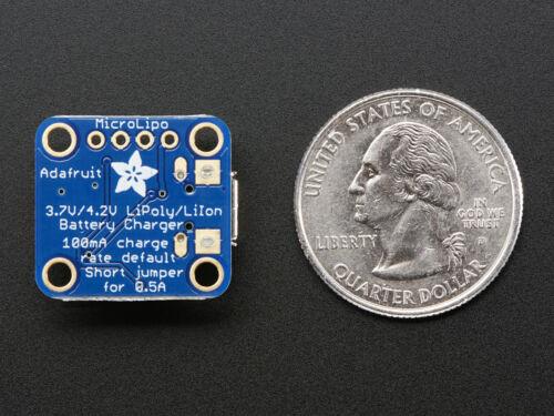 Adafruit Micro LiPo,MicroUSB LiIon//LiPo LiPoly Charging Module,Charger,V1,1904