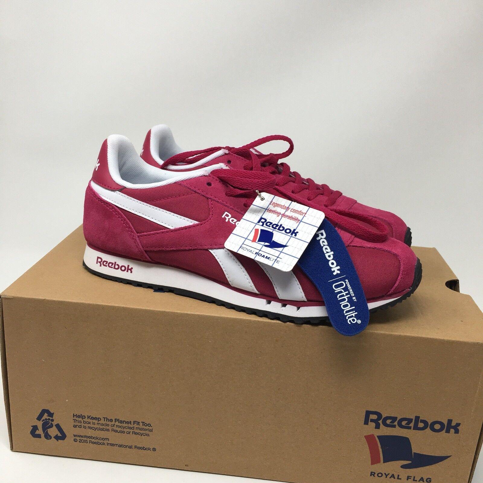 Reebok Womens Royal Alperez Dash Sneakers, Manic Cherry  White. Sz 8