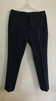 % # River Island Da Uomo Blu Scuro Stretch Slim Fit Tuta Pantaloni Uk 28s/l30-mostra Il Titolo Originale
