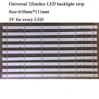 600mm 32/'/' Universal LED Backlight Strips with Optical Lens for TV Repair 10pcs