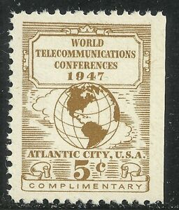 U.S. Revenue Telegraph stamp 17t1 - 5 cent issue of 1947 mnh - #6