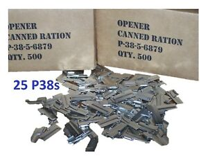 P38-P-38-Shelby-Can-Opener-Pack-25-Mess-Ration-Kit-Scout-Army-Military-C-Ration