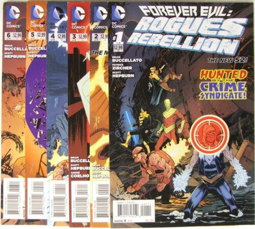 DC Comics Forever Evil Rogues Rebellion lot of 6 books. Issues 16. The New 52.