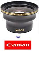 58mm Wide Angle .30x Fisheye Macro Lens For Canon Eos Rebel Digital Cameras