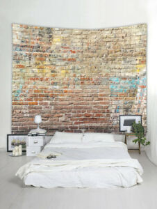 Art Brick Pattern Print Tapestry Wall Hanging Tapestry Bedspread Home Decoration