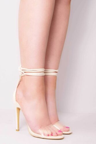 Ladies Womens Ankle Strap Peep Toe High Heel Party Evening Sandal Shoes Size 4-8