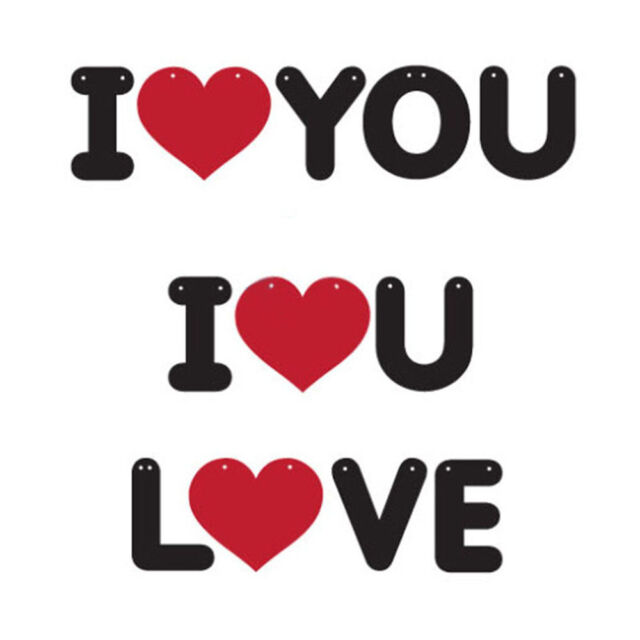 Garland Wedding Non-woven Letter Room Decoration Propose I LOVE YOU Brace