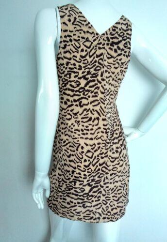 Imprimé 8 100 Designer Silk Neuf Reiss Taille Casual Dress Marque léopard UW81fA86qw