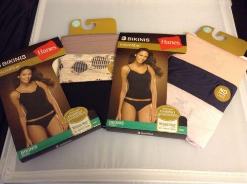 Hanes women/'s 6pk Microfiber Bikini SIZE 5