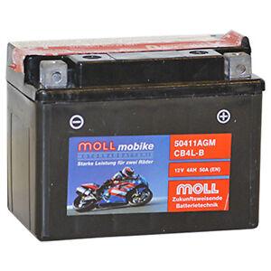 MOLL-mobike-50411-AGM-CB4L-B-BICI-POWER-12V-4AH-50A-BATTERIA-MOTOCICLETTA-NUOVO