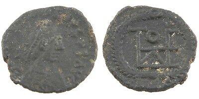 Original 402-450 East Roman Byzantinisch Ae4 Münze Xf Theodosius Ii Monogramm Lrbc-2245 Byzantinische Münzen Münzen