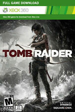 Tomb Raider Full Game Download Code Card Microsoft Xbox 360 Live - REGION FREE