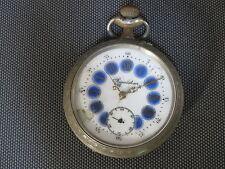 Ancien régulateur montre à gousset cadran à cartouches french antique watch