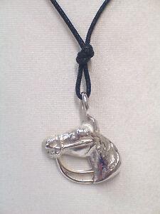 equitazione pendente con girocollo Ciondolo con CAVALLO in ARGENTO 925