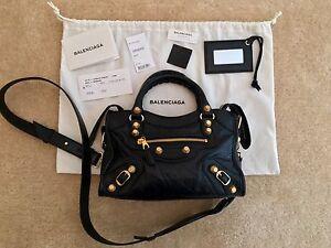 405960a81c7b1 ... Authentic-Balenciaga-Mini-City-Bag-Black-with-Giant-