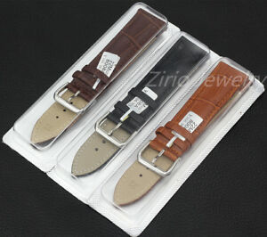 Watch-Band-Replacement-Genuine-Calf-Leather-22mm-Wristwatch-Strap-Belt-Buckle