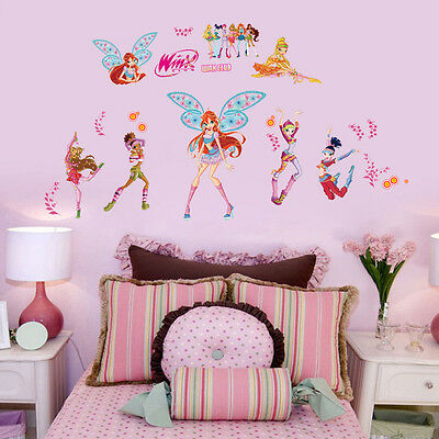 wall stickers Winx club girls decor kids removable PVC art decal home Au