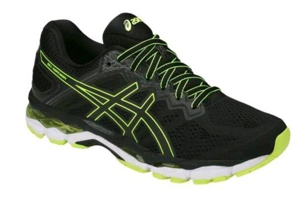 NEW Men's SZ SZ 11.5, ASICS Gel-Superion Running shoes. BLACK   YELLOW T7H2N